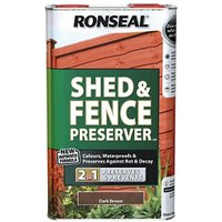 Ronseal Dark brown Fence and shed Preserver 5L