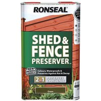 Ronseal Green Fence and shed Preserver 5L