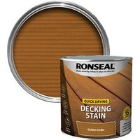 Ronseal Quick-drying Golden cedar Matt Decking Wood stain  2.5L
