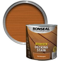 Ronseal Quick-drying Rich mahogany Matt Decking Wood stain  2.5L