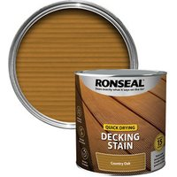 Ronseal Quick-drying Country oak Matt Decking Wood stain  2.5L