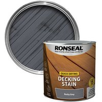 Ronseal Quick-drying Rocky grey Matt Decking Wood stain  2.5L