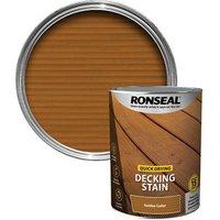 Ronseal Quick-drying Golden cedar Matt Decking Wood stain  5L