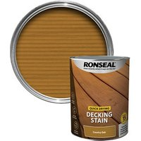Ronseal Quick-drying Country oak Matt Decking Wood stain  5L