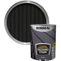 Ronseal Ultimate protection Charcoal Matt Decking Wood stain  5L