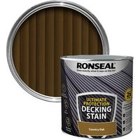 Ronseal Ultimate protection Country oak Matt Decking Wood stain  2.5L
