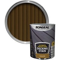Ronseal Ultimate protection Country oak Matt Decking Wood stain  5L