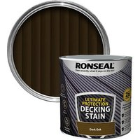 Ronseal Ultimate protection Dark oak Matt Decking Wood stain  2.5L