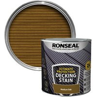 Ronseal Ultimate protection Medium oak Matt Decking Wood stain  2.5L