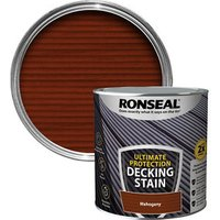 Ronseal Ultimate protection Rich mahogany Matt Decking Wood stain  2.5L