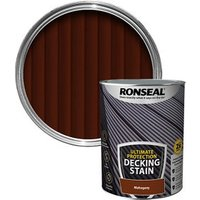 Ronseal Ultimate protection Rich mahogany Matt Decking Wood stain  5L