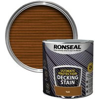 Ronseal Ultimate protection Rich teak Matt Decking Wood stain  2.5L
