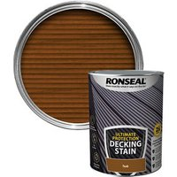 Ronseal Ultimate protection Rich teak Matt Decking Wood stain  5L