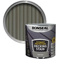 Ronseal Ultimate protection Stone grey Matt Decking Wood stain  2.5L