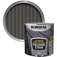 Ronseal Ultimate protection Slate Matt Decking Wood stain  2.5L