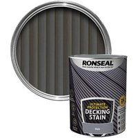 Ronseal Ultimate protection Slate Matt Decking Wood stain  5L