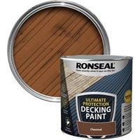 Ronseal Ultimate protection Matt chestnut Decking paint  2.5L