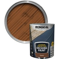 Ronseal Ultimate protection Matt chestnut Decking paint  5L