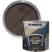 Ronseal Ultimate protection Matt english oak Decking paint  2.5L