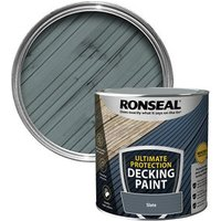 Ronseal Ultimate protection Matt slate Decking paint  2.5L