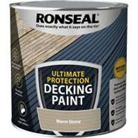 Ronseal Ultimate protection Matt warm stone Decking paint  2.5L