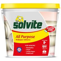 Solvite All purpose Ready for use Wallpaper Adhesive 4.5kg.
