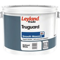 Leyland Trade Pure brilliant white Smooth Matt Masonry paint