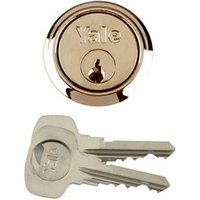 Yale Brass-plated Metal Single Rim Cylinder lock  (L)42mm