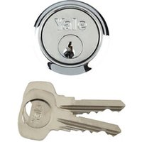 Yale Chrome-plated Metal Single Rim Cylinder lock  (L)42mm