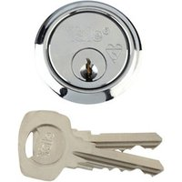 Yale High security Chrome-plated Metal Single Rim Cylinder lock  (L)42mm