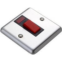 Volex 45A Stainless steel effect Cooker Switch.