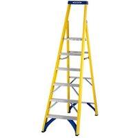 Werner 6 tread Fibreglass Platform step Ladder (H)1.41m.