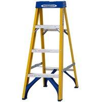 Werner 4 tread Fibreglass Step Ladder (H)1.12m.