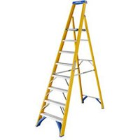 Werner 8 tread Aluminium & fibreglass Platform step Ladder (H)2.48m.
