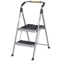 Werner 2 tread Steel Foldable Step stool (H)0.9m.