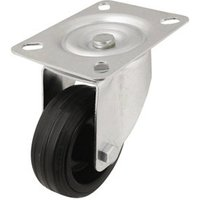Unbraked Heavy duty Swivel Castor (Dia)80mm (Max. Weight)70kg.