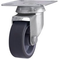 Unbraked Light duty Swivel Castor (Dia)50mm (Max. Weight)30kg.