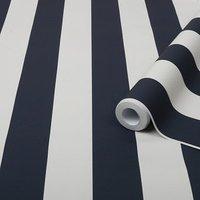 'Superfresco Easy Blue Striped Smooth Wallpaper