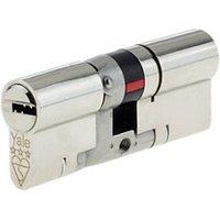 Yale Platinum Nickel-plated Brass Single Euro Cylinder lock (L)80mm