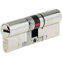 Yale Platinum Nickel-plated Brass Single Euro Cylinder lock (L)95mm