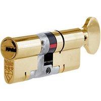 Platinum Brass Single Euro Thumbturn Cylinder lock (L)80mm.