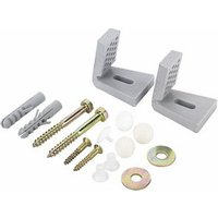 Fischer Silver Nylon & steel Bidet & toilet fixing kit