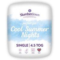 Slumberdown 4.5 tog Summer cool Single Duvet