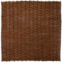 Willow Brown Garden screen (H)1.8m (W)1.8m   Pack of 3