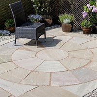 Natural sandstone Autumn green Paving set 4.75m²  Pack of 2