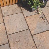 Derbyshire Brown blend Paving slab (L)450mm (W)450mm