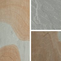 Natural Sandstone Grey blend Paving slab (L)600mm (W)300mm