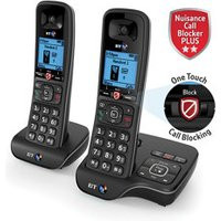 BT DECT Black Telephone with Nuisance call blocker & answer machine.