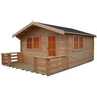 Shire Kinver 12x14 Apex Tongue and groove Wooden Cabin