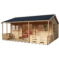Shire Kingswood 18x20 Apex Tongue and groove Wooden Cabin